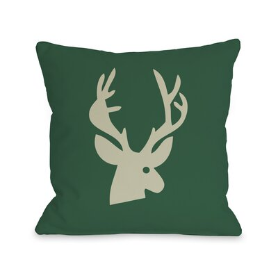 Deer Plaid Throw Pillow Size: 18 H x 18 W