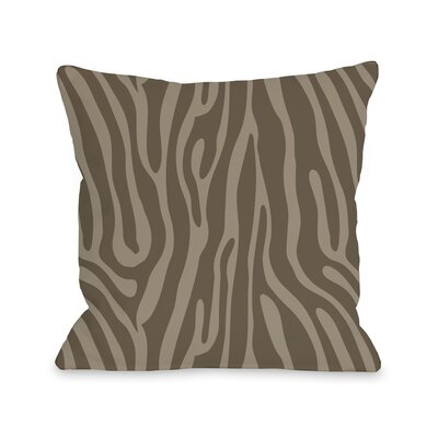 Raffi Zebra Throw Pillow Color: Coffee Nougat, Size: 18 H x 18 W