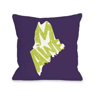 Maine State Throw Pillow