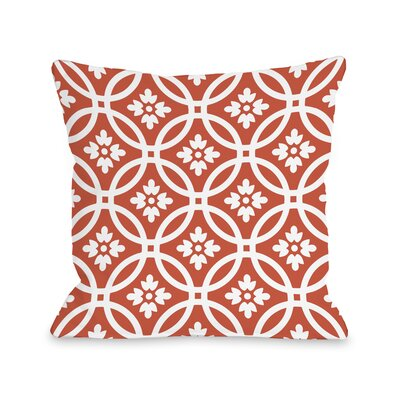 Meredith Circles Throw Pillow Size: 16 H x 16 W, Color: Tiger Lily Orange