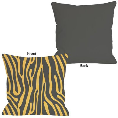 Raffi Zebra Throw Pillow Size: 16 H x 16 W, Color: Mimosa Gray