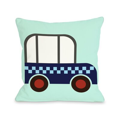 Checkered Car Throw Pillow Size: 16 H x 16 W