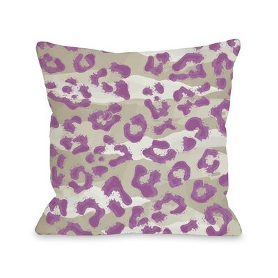 Ariana Cheetah Throw Pillow Size: 16 H x 16 W, Color: Tan Orchid