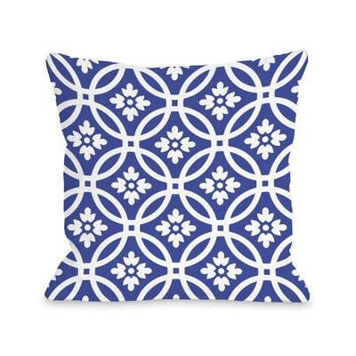 Meredith Circles Throw Pillow Size: 16 H x 16 W, Color: Navy