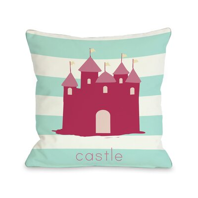 Castle Throw Pillow Size: 18 H x 18 W
