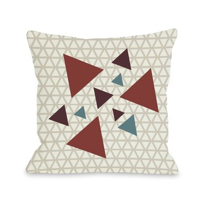 Natasha Geometric Triangles Throw Pillow Size: 16 H x 16 W, Color: Oatmeal Brick