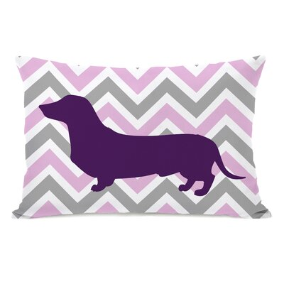 Dachshund Girl Lumbar Pillow