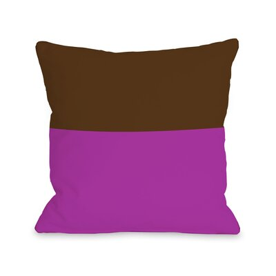 Two Tone Throw Pillow Size: 18 H x 18 W, Color: Fuchsia Brown