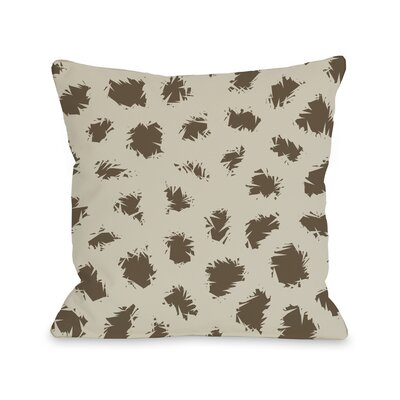 Wooly Mammoth Throw Pillow Color: Oatmeal Brown, Size: 18 H x 18 W