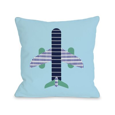 Airplane Throw Pillow Size: 26 H x 26 W