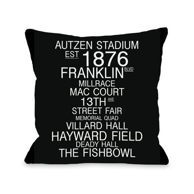 Eugene Orgeon Landmarks Throw Pillow Size: 26 H x 26 W