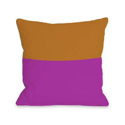 Two Tone Throw Pillow Size: 18 H x 18 W, Color: Fuchsia Orange