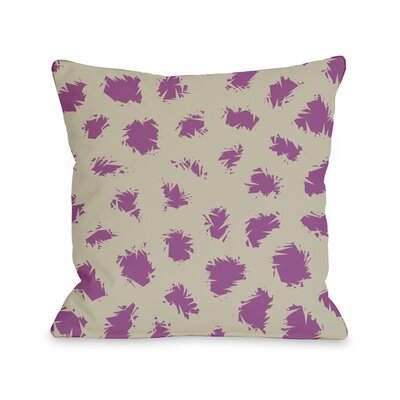 Wooly Mammoth Throw Pillow Size: 16 H x 16 W, Color: Oatmeal Orchid