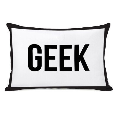 Gingham Geek Lumbar Pillow