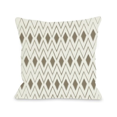 Natural Diamonds Geometric Throw Pillow Size: 18 H x 18 W
