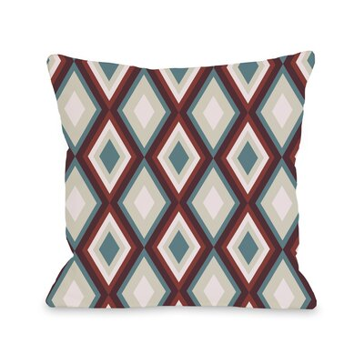 Neil Diamond Throw Pillow Color: Blue Carbernet, Size: 18 H x 18 W