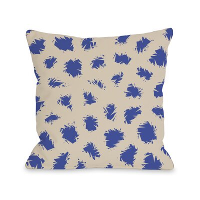 Wooly Mammoth Throw Pillow Size: 16 H x 16 W, Color: Tan Blue