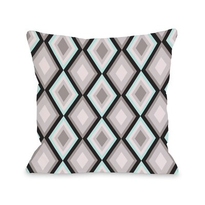 Neil Diamond Throw Pillow Color: Blue Gray Black, Size: 18 H x 18 W