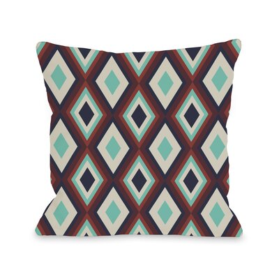 Neil Diamond Throw Pillow Size: 18 H x 18 W, Color: Navy Red Turquoise