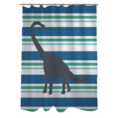Apostosaurus Stripes Shower Curtain