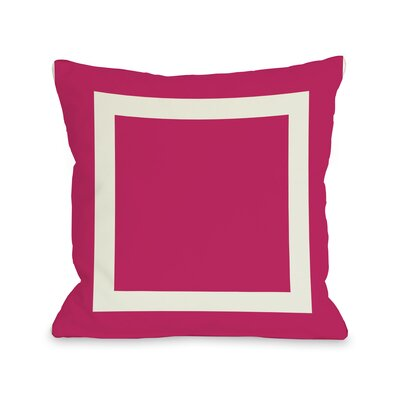 Throw Pillow Color: Fuchsia