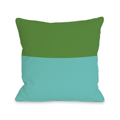 Two Tone Throw Pillow Size: 18 H x 18 W, Color: Turquoise Green
