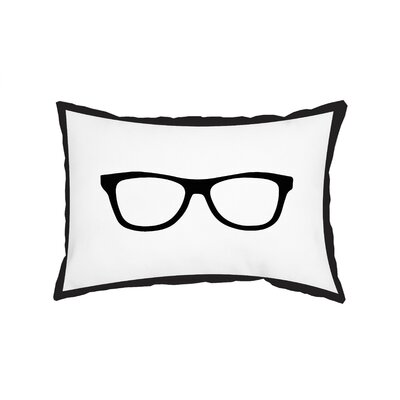 Gingham Nerd Glasses Lumbar Pillow