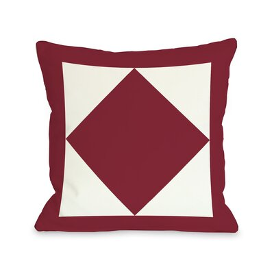 Square and Diamond Throw Pillow Size: 16 H x 16 W, Color: Red