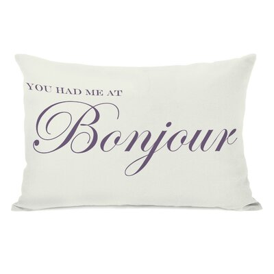 You Had Me At Bonjour Lumbar Pillow
