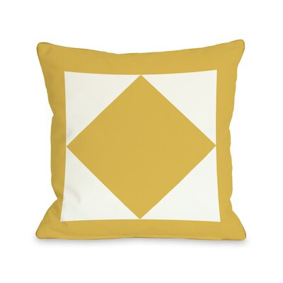 Square and Diamond Throw Pillow Color: Yellow, Size: 26 H x 26 W