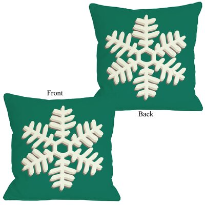 Single Snowflake Throw Pillow Size: 18 H x 18 W
