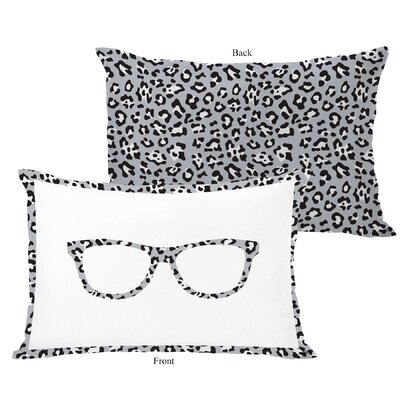 Leopard Nerd Glasses Lumbar Pillow