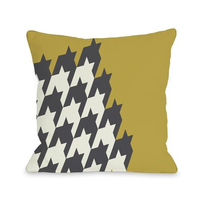 Harry Half Houndstooth Throw Pillow Size: 16 H x 16 W, Color: Oil Yellow