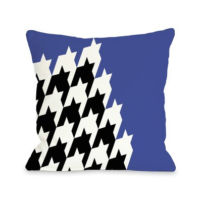 Harry Half Houndstooth Throw Pillow Size: 16 H x 16 W, Color: Dazzling Blue