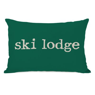 Ski Lodge Lumbar Pillow