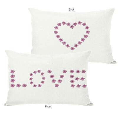 Love Mini Flowers Reversible Lumbar Pillow