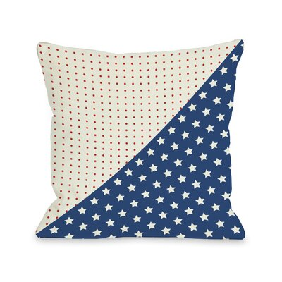 Polka Dots and Stars Throw Pillow Size: 16 H x 16 W