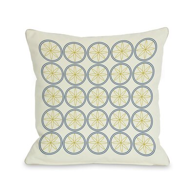 Circles & Flowers Throw Pillow Color: Yellow
