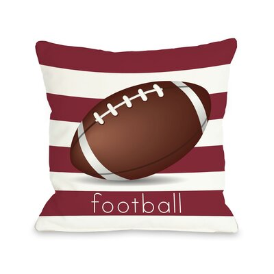 Football Throw Pillow Size: 18 H x 18 W