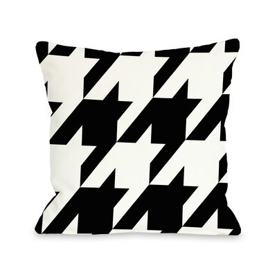 Molly Oversized Houndstooth Throw Pillow Size: 16 H x 16 W, Color: Black White