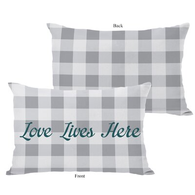 Love Lives Here Fleece Lumbar Pillow