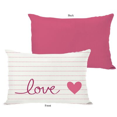 Love on a Line Lumbar Pillow