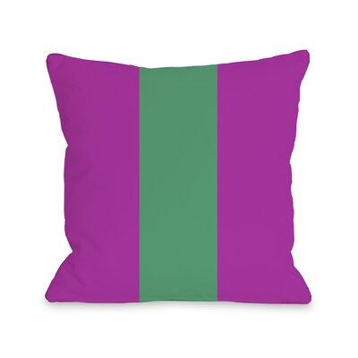 Main Line Throw Pillow Size: 18 H x 18 W, Color: Fuchsia Emerald