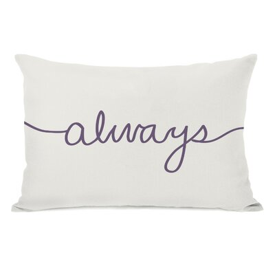Always Mix and Match Lumbar Pillow Color: Ivory / Grape