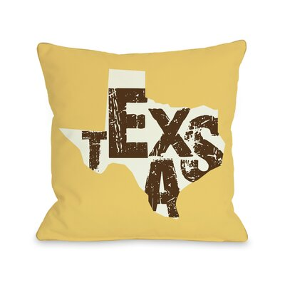 Texas State Silo Throw Pillow Size: 20 H x 20 W