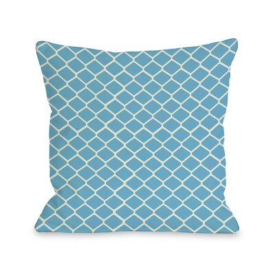 Fence Throw Pillow Color: Light Blue Ivory, Size: 18 H x 18 W