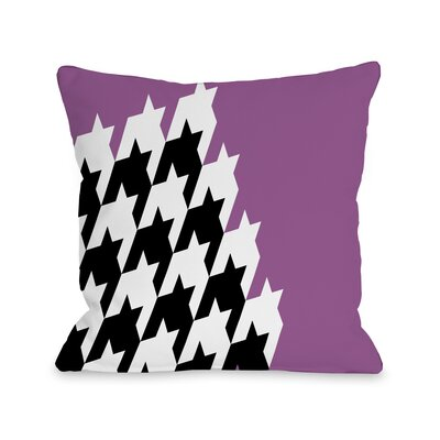 Harry Half Houndstooth Throw Pillow Size: 18 H x 18 W, Color: Orchid