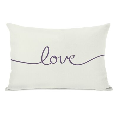 Northwest Peaks Lumbar Pillow Color: Ivory/Grape
