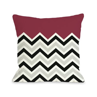 Chevron Throw Pillow Size: 18 H x 18 W, Color: Red