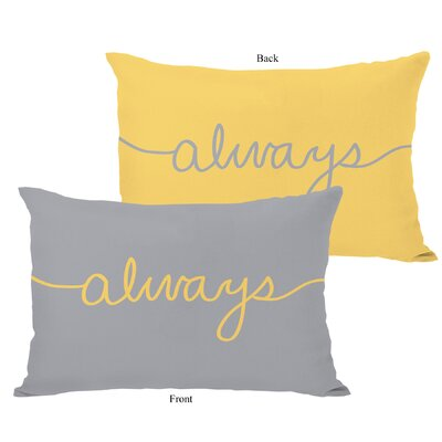Always Mix and Match Lumbar Pillow Color: Mimosa / Gray